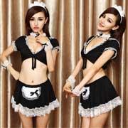 蕾丝边黑白色内衣 9881