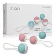 KEY 斯蒂娜全硅胶缩阴球 专业修复(M)(凯格尔运动按摩球 4个球)
