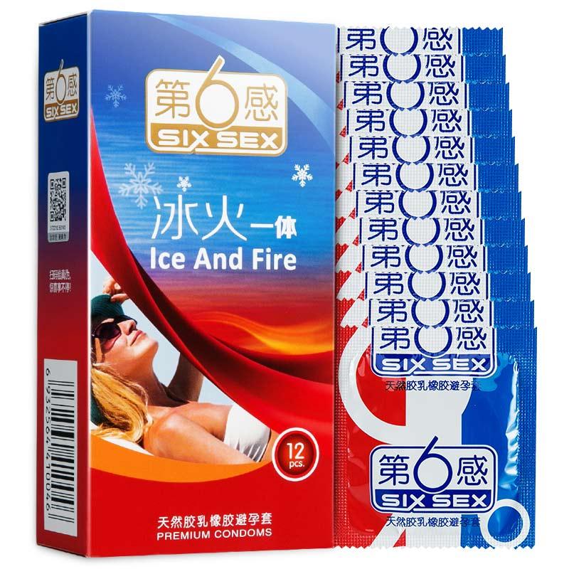 第6感 冰火一体避孕套 (薄荷香)