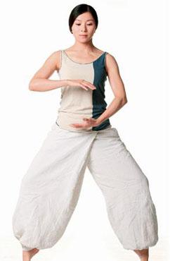 常见的气功减肥法之站式九段减肥功