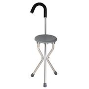 康王 铝合金圆形手杖凳